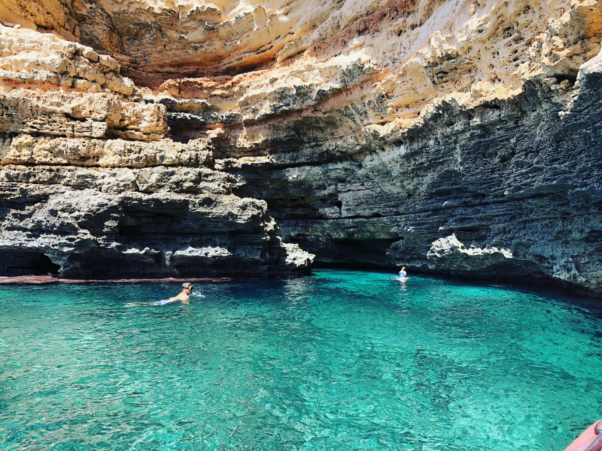 alquiler barcos ibiza, cuevas de formentera