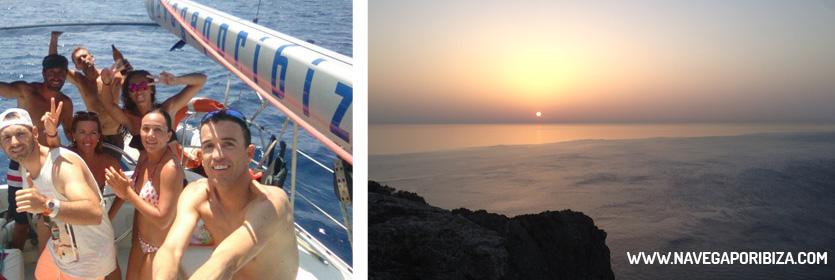 ruta de playas en barco por ibiza y formentera