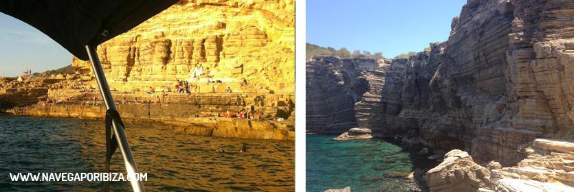 Punta galera en excursion barco ibiza