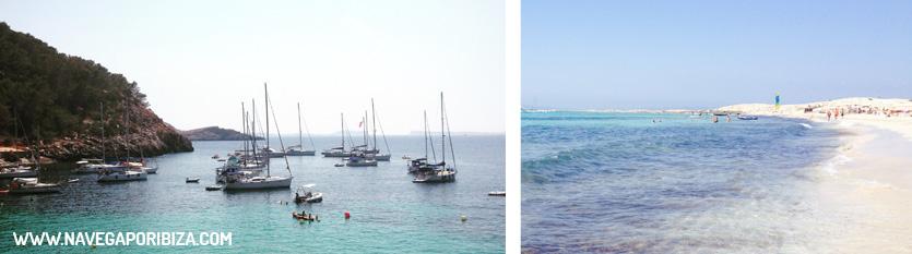 alquiler barco ,playas magicas de ibiza y formentera
