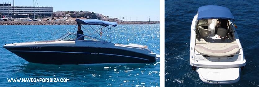 lancha en ibiza y Formentera para alquilar