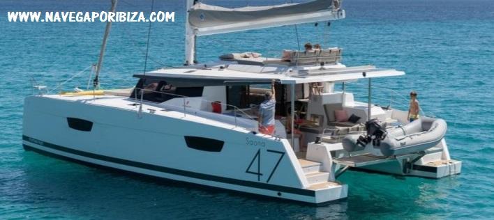 alquiler catamaran en ibiza con y sin patron
