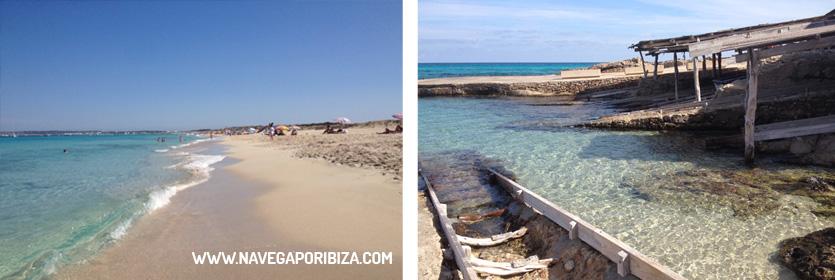 ruta de playas en formentera en el pirata