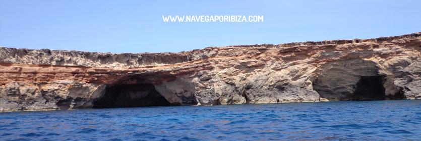 alquiler barco en ibiza y las cuevas de formentera