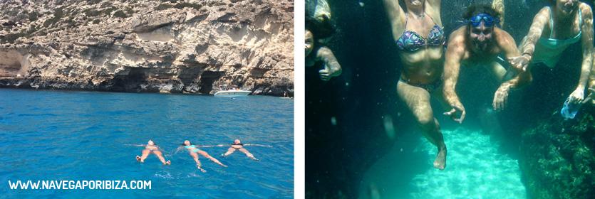 excursion barco en formentera y las cuevas