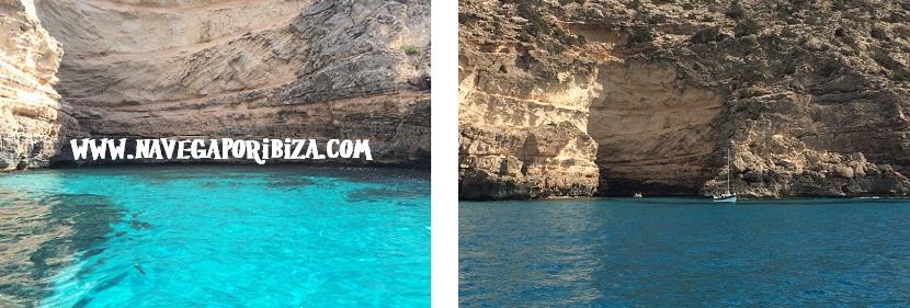alquiler barco formentera cuevas de Formentera